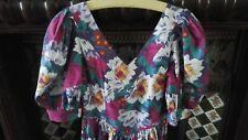 jolie robe vintage LAURA ASHLEY, coton fleuri, UK 16, Fr 42