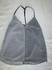 NEW! $39 Socialite womens size S small cami tank top shirt white black stripes