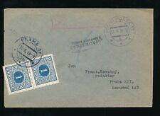 CZECHOSLOVAKIA 1938 OCCUPATION POSTAGE DUE + CENSOR from POLAND