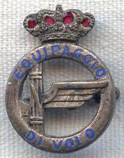WWII Italian Air Force Officer Crew Member Badge