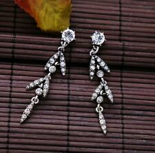 NEW Fashion Silver Glass Crystal Stone Danglers Drops Earrings Statement Gift UK