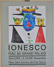 Ionesco: exposición/cartel fiac Paris, 1984 (con handschr. dedicatoria)