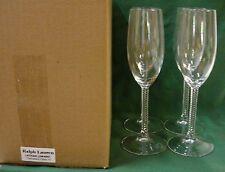 Ralph Lauren LATHAM (SW400)  Champagne Flutes (4) SET OF FOUR Mint in BOX