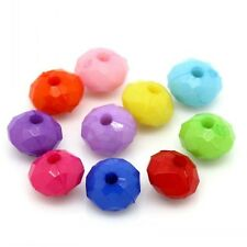 20 Mixte Perles intercalaires en acrylique, 8mm Perle rondelle 8 x 5mm
