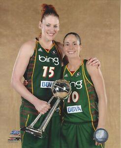 SUE BIRD & LAUREN JACKSON 8x10 WNBA LICENSED PHOTOGRAPH 2010 CHAMPS STORM