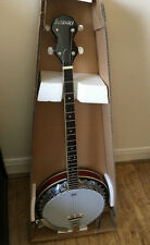 Ashbury CBJ-35/P Plectrum Banjo + Clamp Mute + strings