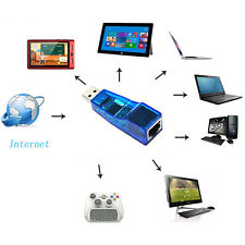 10/100 Mbps USB 2.0 to Lan Ethernet RJ45 Network Card Adapter For PC Laptop SK