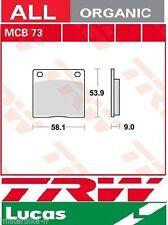 Jeu 2 Plaquette frein Organic TRW MCB73 MCB 73