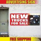 NEW TRUCKS FOR SALE Advertising Banner Vinyl Mesh Decal Sign we finance used car
