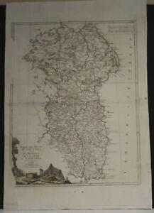 ULSTER & LEINSTER IRELAND 1778 ZATTA  ANTIQUE ORIGINAL COPPER ENGRAVED MAP