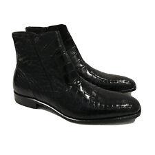 Y-1462400 New Mezlan Crocodile Alligator Skin Belucci Boots Dress Shoes Size 9