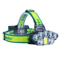 SkyWolfEye Tactical Rechargeable T6 LED Flashlight 90000LM Head Lamp Headlamp k