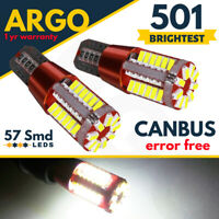 501 Led Canbus Sidelight Bulbs 57 Smd Super Bright White Car T10 W5w Bulb 12v