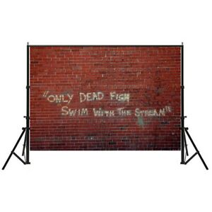 7*5ft Red Brick Wall Vinyl Photography Backdrop Art Photo Background Studio Prop