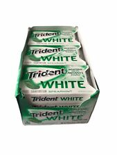 Trident White Spearmint Sugar Free Gum -16 Count (Pack of 12) (192Piece Total)