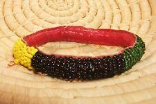 African Dogon Beaded Leather Bangle Bracelet SMALL ethnic tribal boho jbdt39