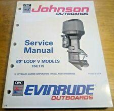 Evinrude Johnson 150 175 HP Outboard Service Repair Shop Manual 1991 OMC 507950
