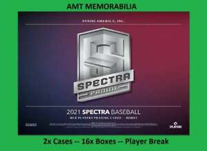 Xander Bogaerts Boston Red Sox 2021 Panini Spectra 2X Case 16X BOX BREAK #11