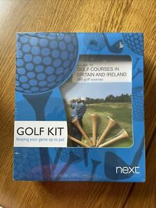 Next Golf Kit Gift Pack Christmas Gift AA Guide To Course On UK Club Towel /Tees