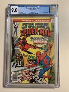 PETER PARKER, SPECTACULAR SPIDER-MAN #1 | December 1976 | CGC 9.0 VF/NM 9.0 |