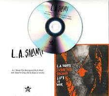 L.A. SALAMI I Wear This Because Life Is War 2-trk promo test CD