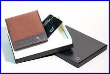 MONTBLANC Havana brown leather & tissue Montblanc NightFlight Wallet 8cc