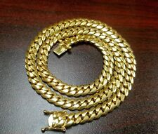 "26"" 14k Gold Plated Silver Miami Cuban Link Chain, 9 mm 135 grams"