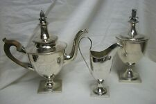 Assembled American Coin Silver Tea Set Circa 1795