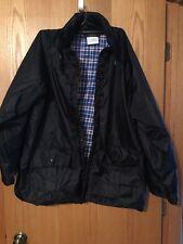Northwest Territory Jacket XL Black With Plaid Lining Tuckable Hood Nice!