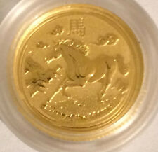 2014  Horse 5 dollars 1/20 oz  .999 fine  Gold Coin  in plastic capsule