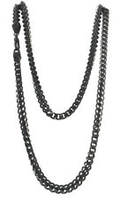"""Aqua Master Men's Black PVD Coated Stainless Steel 40"""" Chain 6mm Wide"""