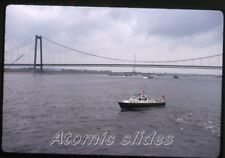 1971 kodachrome photo slide  Germany Customs boat  Emmerich