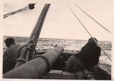 AM158  Photo anonyme vintage bateau boat mer sea vers 1950