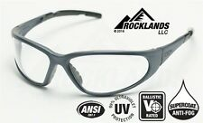 Elvex XTS™ Safety/Tactical/Shooting Glasses Clear Anti-Fog Lens/Black Frame