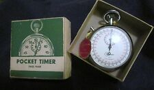 VINTAGE KALTRON  1/10 ANTI MAGNETIC SWISS POCKET WATCH TIMER NEW IN BOX