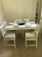 white Ikea extending dining table