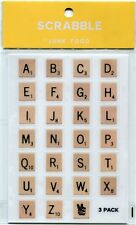 Pack of 81 Scrabble A-Z Letter Stickers for Scrapbooking by Hasbro/Junk Food