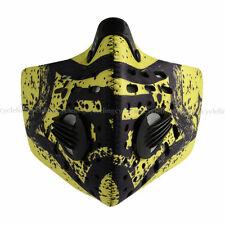 RockBros Cycling Anti-dust Half Face Mask with Filter Neoprene Black Yellow