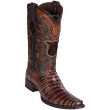 Men's Los Altos Genuine Caiman Belly Western Boots Square Toe Wide Width