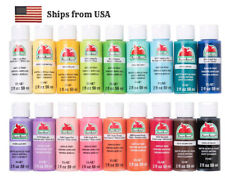 MATTE Acrylic Paint 2 oz. Apple Barrel Assorted Colors. Fast shipping.