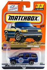 Matchbox #33 Chevy Tahoe Cleveland Police With MB 2000 Logo New On Card