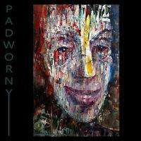 """30"""" ORIGINAL OIL PAINTING PRETTY ART BIG FACE PORTRAIT LARGE HEAD POP GIANT FOLK"""