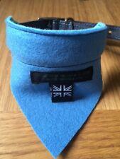 REVERSIBLE BLUE/TURQUOISE 100% Felted Wool  Dog Bandana Scarf by Posh Shop UK