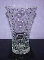 "Vintage HOMCO 8"" Cube Pattern Vase EUC"