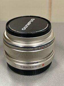 Olympus M.Zuiko Digital ED 17mm F1.8 Lens (Silver) Prime Micro Four Thirds USED