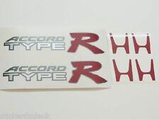 Honda ACCORD Type R OEM 2 x rouge panneau latéral + centre cap stickers-VOITURES de lumière