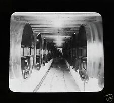 Glass Magic lantern slide WINE CELLARS PROBABLY IN MENDOZA C1910 ARGENTINA
