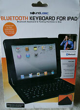 SoundLogic Bluetooth Leather Keyboard For iPad & Portfolio In One ~ **NEW**