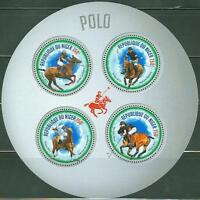 """NIGER 2013 """"POLO CHAMPIONS"""" SHEET OF FOUR STAMPS"""
