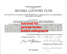 RITA HAYWORTH  - SIGNED  CLUB MEMBERSHIP - GILDA - GLENN FORD - ORSON WELLES